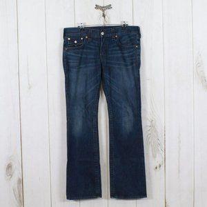 TRUE RELIGION Medium Wash Straight Leg Jeans Sz 34